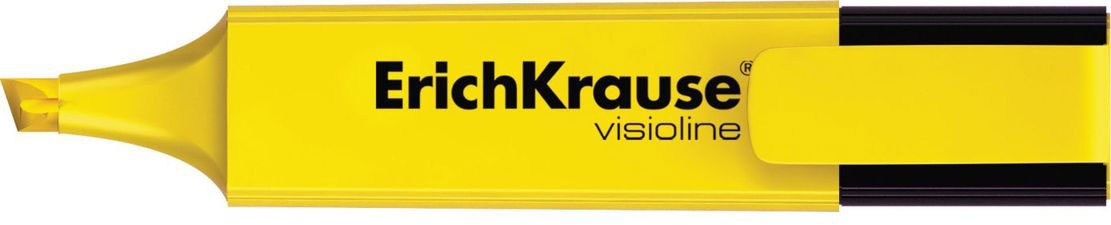 Erich Krause Маркер Visioline V-20 желтый 3094030940Маркер для выделения текста предназначен для работы на всех типах бумаги, в том числе на бумаге для факсов и копировальных машин.Скошенный пишущий узел позволяет варьировать ширину письма. Широкое перо 5. 2 мм удобно для выделения текста, а тонкое 0. 6 мм – для подчеркивания. Длина непрерывной линии 673 м. Флуоресцентные чернила на водной основе. Быстро высыхают после нанесения. Не просвечиваются через бумагу.