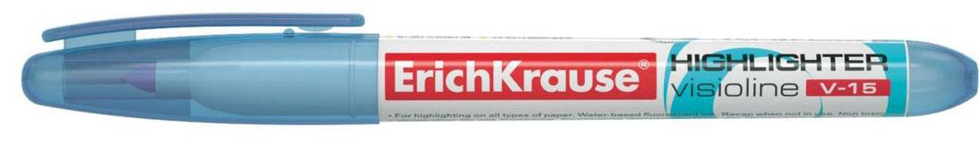 Erich Krause Маркер Visioline V-15 голубой 3096930969Современный, эргономичной формы маркер для выделения текста. Предназначен для работы на всех типах бумаги, в том числе на бумаге для факсов и копировальных машин. Имеет клип для переноски. Скошенный пишущий узел позволяет варьировать ширину письма. Широкое перо 4. 0 мм удобно для выделения текста, а тонкое 0. 56 мм – для подчеркивания. Длина непрерывной линии 848 м. Флуоресцентные чернила на водной основе. Быстро высыхают после нанесения. Не просвечиваются через бумагу.