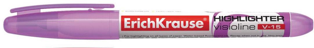 Erich Krause Маркер Visioline V-15 фиолетовый 3097030970Современный, эргономичной формы маркер для выделения текста. Предназначен для работы на всех типах бумаги, в том числе на бумаге для факсов икопировальных машин. Имеет клип для переноски. Скошенный пишущий узел позволяет варьировать ширину письма. Широкое перо 4. 0 мм удобно длявыделения текста, а тонкое 0. 56 мм – для подчеркивания. Длина непрерывной линии 848 м. Флуоресцентные чернила на водной основе. Быстро высыхаютпосле нанесения. Не просвечиваются через бумагу.