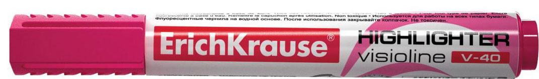Erich Krause Маркер Visioline V-40 розовый 30976 erich krause маркер visioline v 40 желтый 30974