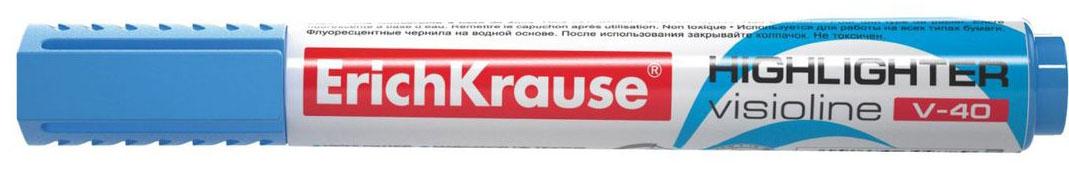 Erich Krause Маркер Visioline V-40 голубой 3097830978Заправляемый маркер для выделения текста предназначен для работы на всех типах бумаги, в том числе на бумаге для факсов и копировальных машин. Предназначен для стационарной работы в офисе и дома, удобен для мобильного использования. Имеет клип для переноски. Скошенный пишущий узел позволяет варьировать ширину письма. Широкое перо 5. 2 мм удобно для выделения текста, а тонкое 0. 6 мм – для подчеркивания. Длина непрерывной линии 653 м. Флуоресцентные чернила на водной основе. Рекомендуется использовать запасные картриджи с чернилами для текстмаркеров ErichKrause.