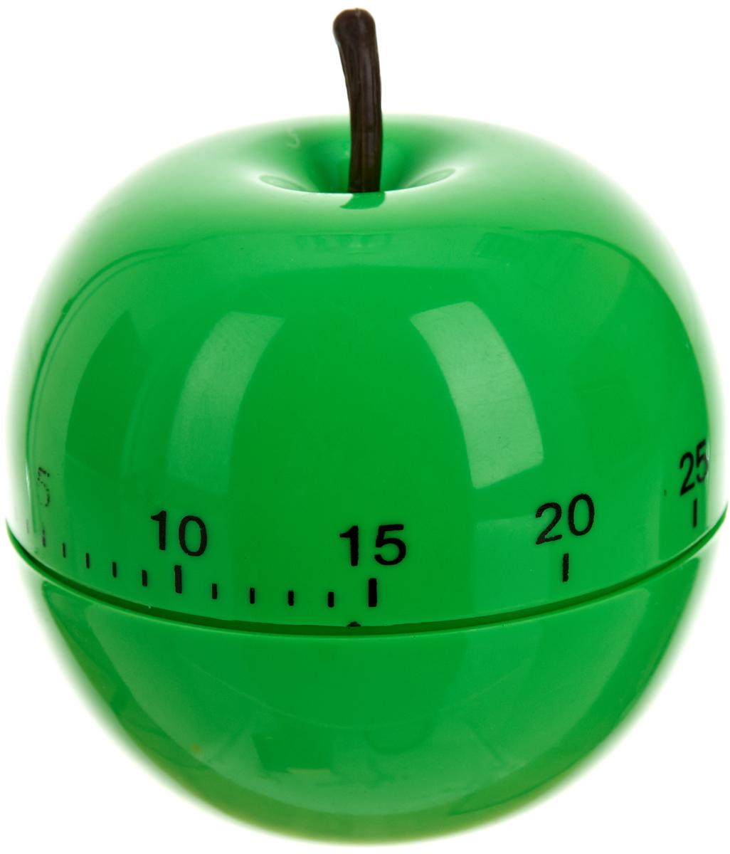 """Механический кухонный таймер Best Home Kitchen """"Зеленое яблоко"""" изготовлен из цветного пластика. Максимальное время, на которое Вы можете поставить таймер, составляет 60 минут. После того, как время истечет, таймер громко зазвенит. Оригинальный дизайн таймера украсит интерьер любой современной кухни, и теперь Вы сможете без труда вскипятить молоко, отварить пельмени или вовремя вынуть из духовки аппетитный пирог."""