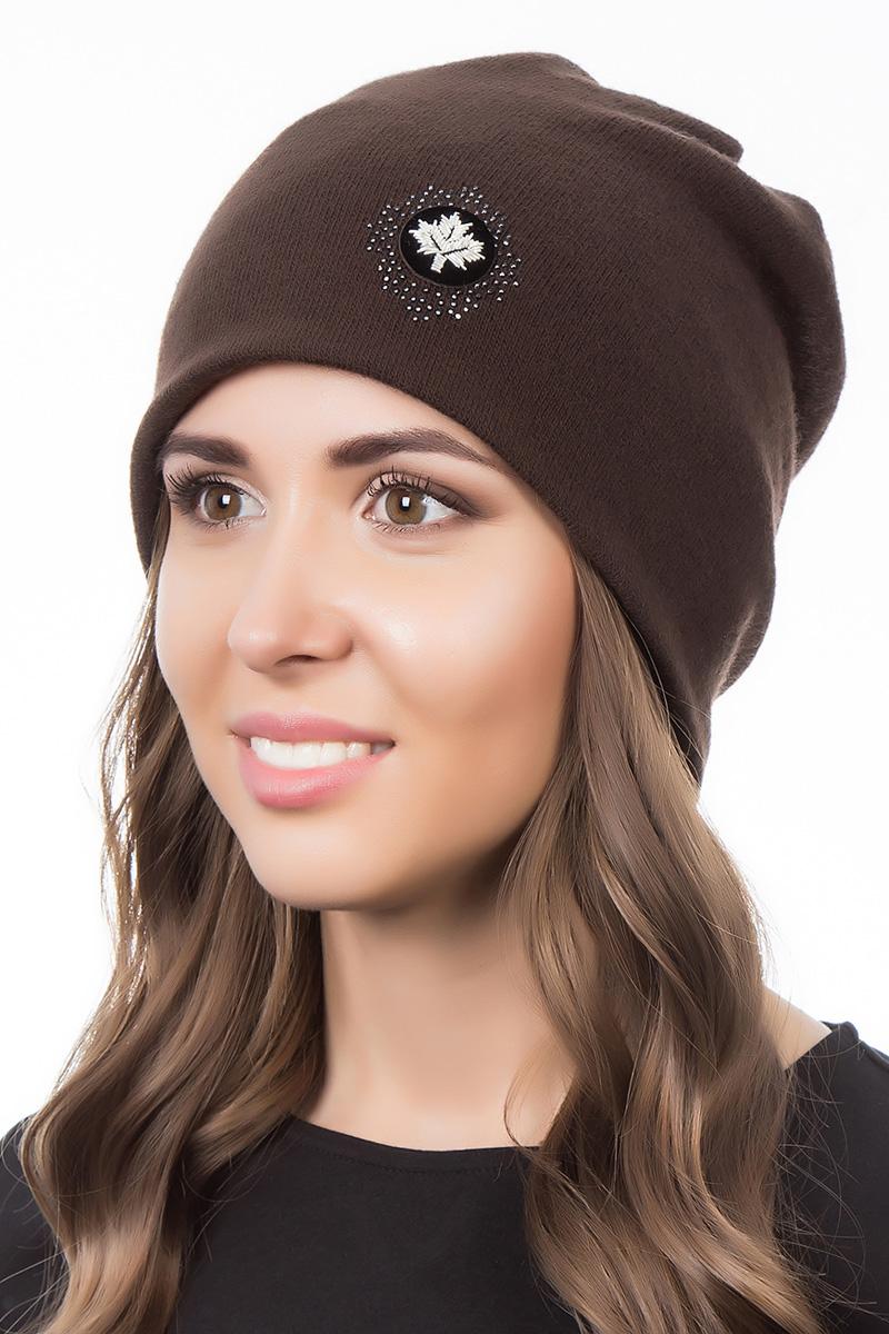 Шапка женская Level Pro Шеврон, цвет: темно-коричневый. 998969. Размер 56/58998969Женская шапка Level Pro Шеврон отлично дополнит ваш образ в холодную погоду. Модель выполнена из высококачественной пряжи. Для комфорта и тепла внутри шапки предусмотрена мягкая флисовая подкладка. Изделие украшено нашивкой. Такая шапка станет модным и стильным дополнением вашего гардероба, в ней вам будет уютно и тепло!