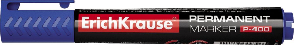 Erich Krause Маркер перманентный P-400 синий 30987 маркер перманентный erich krause р 200 1 5 мм зеленый 21811 21811
