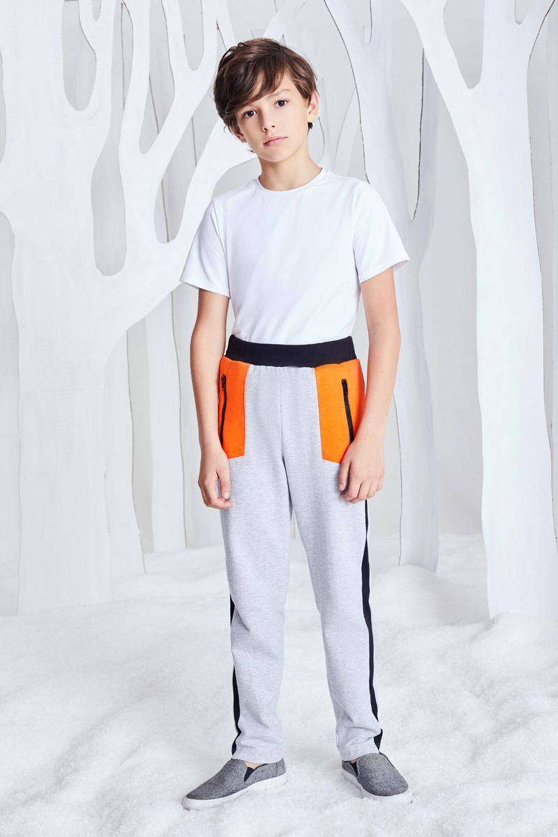Брюки спортивные для мальчика Смена, цвет: серый. 17с262. Размер 152/158 пиджак для мальчика смена цвет серый 16с263 размер 158 164