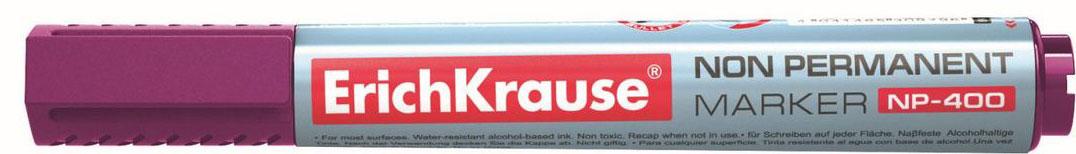 Erich Krause Маркер NP-400 фиолетовый 3100531005Неперманентный маркер предназначен для работы в офисе, учреждениях, учебных заведениях. Удобен для мобильного использования. Имеет клип для переноски. Незаменим для проведения презентаций, совещаний. Предназначен для письма практически на всех поверхностях: бумага, картон, пленка, стекло, пластик, полистирол, фарфор, керамика, дерево, кожа и камень. А также прекрасно подходит для письма на флипчартах. Наконечник пулевидной формы, устойчивый к повреждению и истиранию. Ширина письма - 0. 8-2. 2 мм. Длина письма - 830 м. Чернила на водной основе. Быстро высыхают после нанесения. Заправляемый. Рекомендуется использовать запасные картриджи с чернилами для неперманентных маркеров ErichKrause.