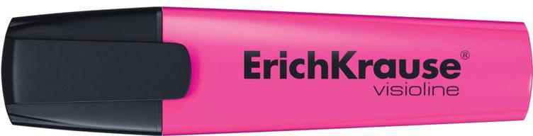 Erich Krause Маркер Visioline V-12 розовый 3249832498Цвет-розовый. Маркер для выделения текста предназначен для работы на всех типах бумаги, в том числе на бумаге для факсов и копировальных машин.Скошенный пишущий узел позволяет варьировать ширину письма. Широкое перо 5. 2 мм удобно для выделения текста, а тонкое 0. 6 мм – для подчеркивания. Длина непрерывной линии 655 м. Флуоресцентные чернила на водной основе. Быстро высыхают после нанесения. Не просвечиваются через бумагу.