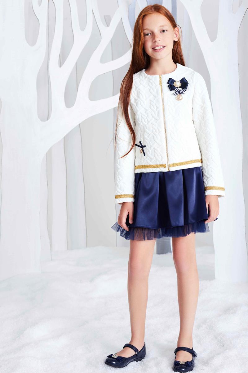 Жакет для девочки Смена, цвет: белый. 17с43. Размер 158/164 жакет 158 см
