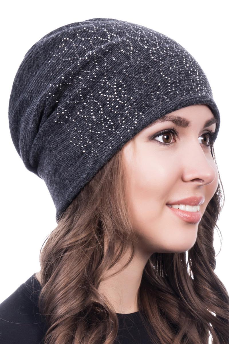 Шапка женская Level Pro Косичка, цвет: темно-серый меланж. 998030. Размер 56/58998030Стильная женская шапка Level Pro дополнит ваш наряд и не позволит вам замерзнуть в холодное время года. Шапка выполнена из шерсти с добавлением полиэстера, что позволяет ей великолепно сохранять тепло и обеспечивает высокую эластичность и удобство посадки. Сзади шапка присборена. Внутри - флисовая подкладка.Оформлена модель аппликацией из страз и на макушке дополнена большой стразой. Такая шапка составит идеальный комплект с модной верхней одеждой.