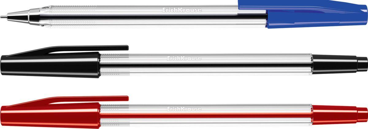 Erich Krause Набор шариковых ручек Ultra L-10 3 шт 3950939509Набор из 3х ручек. Шариковая ручка в прозрачном корпусе с рифленой поверхностью для пальцев. Цвет колпачка соответствует цвету чернил. Цвет чернил- красный. Пишущий узел 0. 7 ммобеспечивает тонкое и четкое письмо. Толщина линии 0. 25 мм. Длина письма 1800 м.