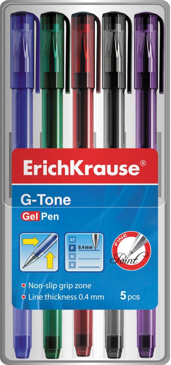 Набор из 5-и гелевых ручек в прозрачном мягком футляре, Цвета чернил : синий, зеленый, черный, красный и фиолетовый. Гелевая ручка с тонированным корпусом. Цвет корпуса соответствует цвету чернил. Пишущий узел 0. 5 мм. Толщина линии 0. 4±0. 02 мм. Сменный стержень.