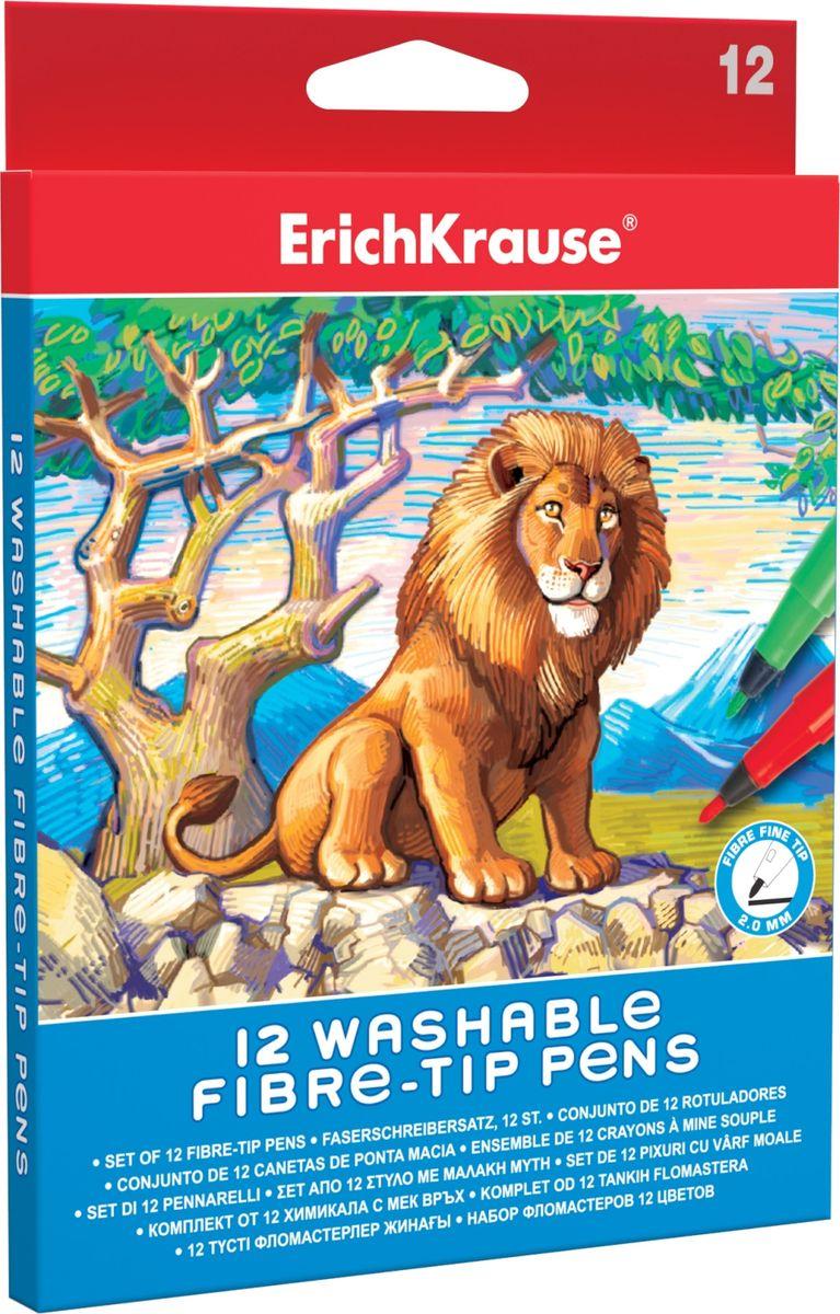 Erich Krause Фломастеры Art Berry 12 шт 3856438564Длина непрерывной линии 480м. Чернила на водной основе. Пишущий узел 2 мм выдерживает сильное нажатие и сохраняет форму в течение длительного срока. Упаковка - картонный короб с европодвесом.