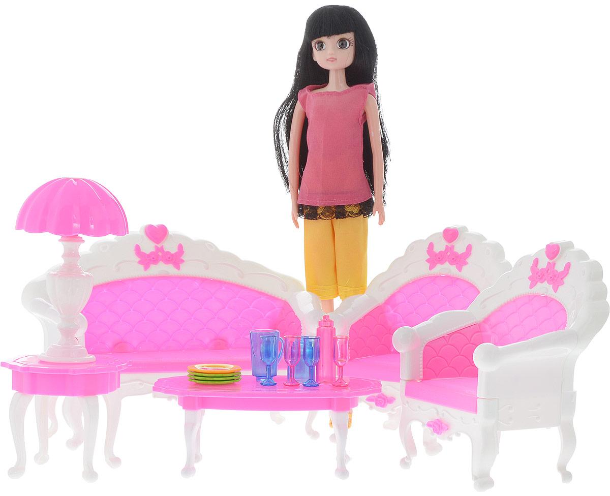 Junfa Toys Игровой набор с куклой Гостиная