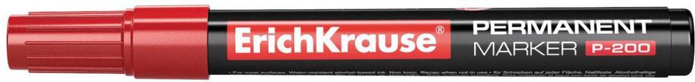 Erich Krause Маркер перманентный P-200 красный 4779 маркер перманентный erich krause р 200 1 5 мм зеленый 21811 21811