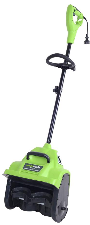 Снегоуборщик электрический Greenworks 950W, 30 см 2602726027 Ширина захвата 30 смГлубина захвата 10 смДальность выброса до 6 мСнегоуборочный шнек из армированного пластика, не повреждающий декоративные покрытияДополнительная ручка для удобства использованияРабота от сети 220В Мощность 950Вт Ширина захвата 30 см Глубина захвата 10 смДальность выброса до 6 м Снегоуборочный шнек из армированного пластика, не повреждающий декоративные покрытия Дополнительная ручка для удобства использования Система защиты от случайного включения Гарантия 2 года