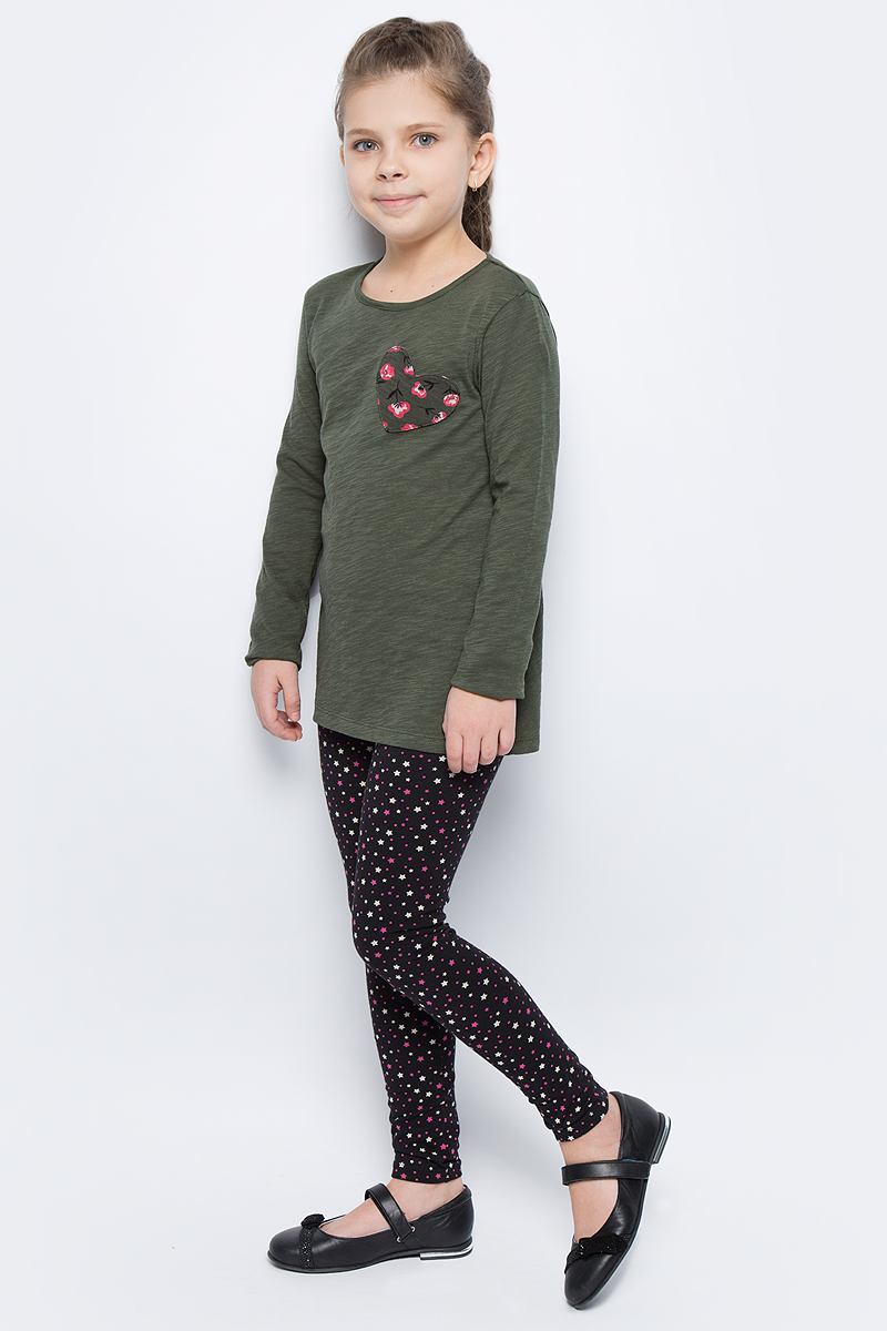 Майка для девочек United Colors of Benetton, цвет: хаки. 3XF7C13B8_12G. Размер 1203XF7C13B8_12G