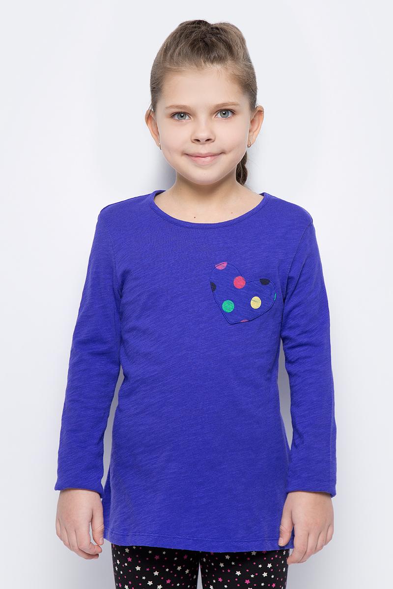 Фото Лонгслив для девочки United Colors of Benetton, цвет: синий. 3XF7C13B8_1F3. Размер 100