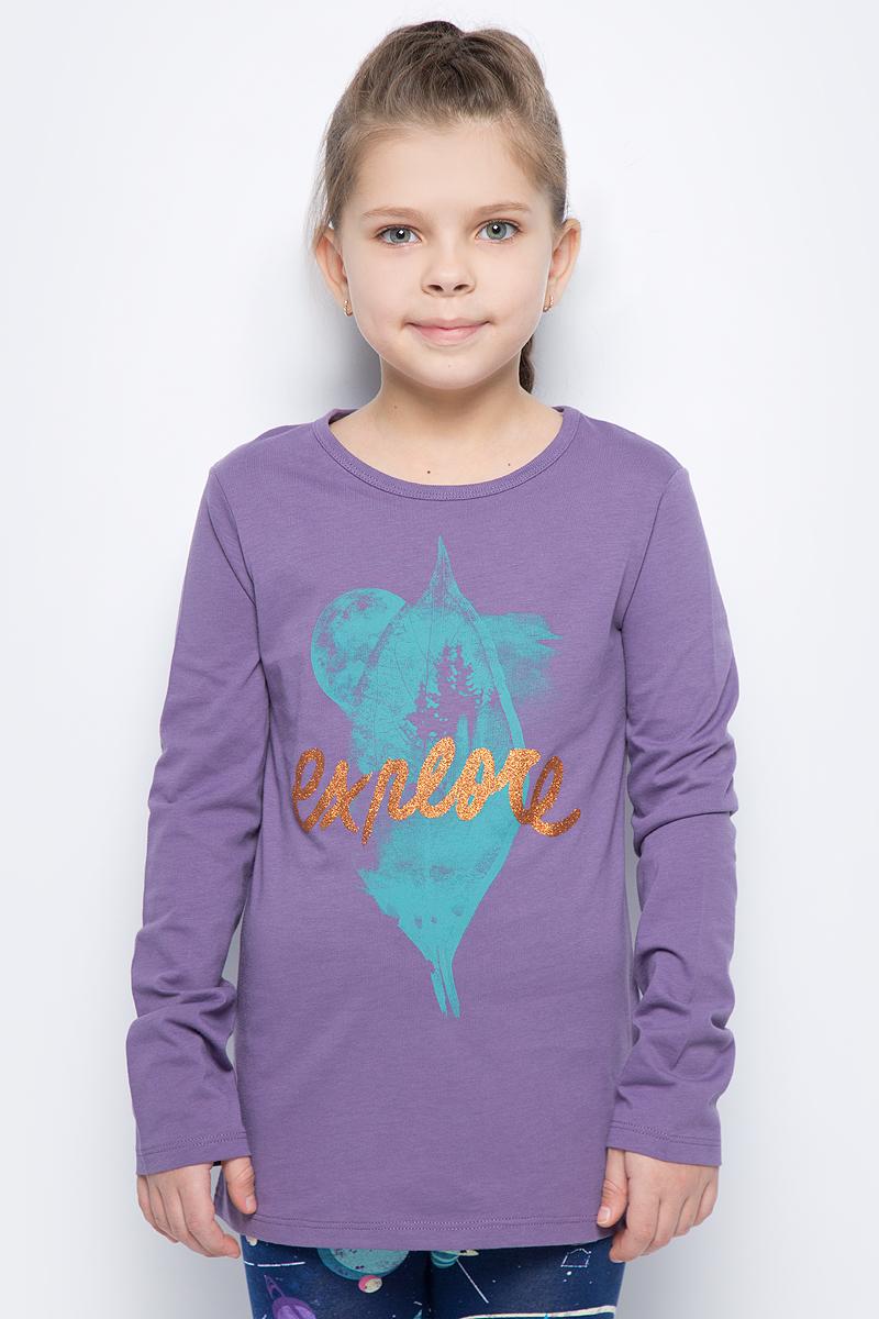 Лонгслив для девочки United Colors of Benetton, цвет: фиолетовый. 3I1XC139V_1V4. Размер 150 куртка для девочки united colors of benetton цвет синий 2xd853bs0 901 размер 150