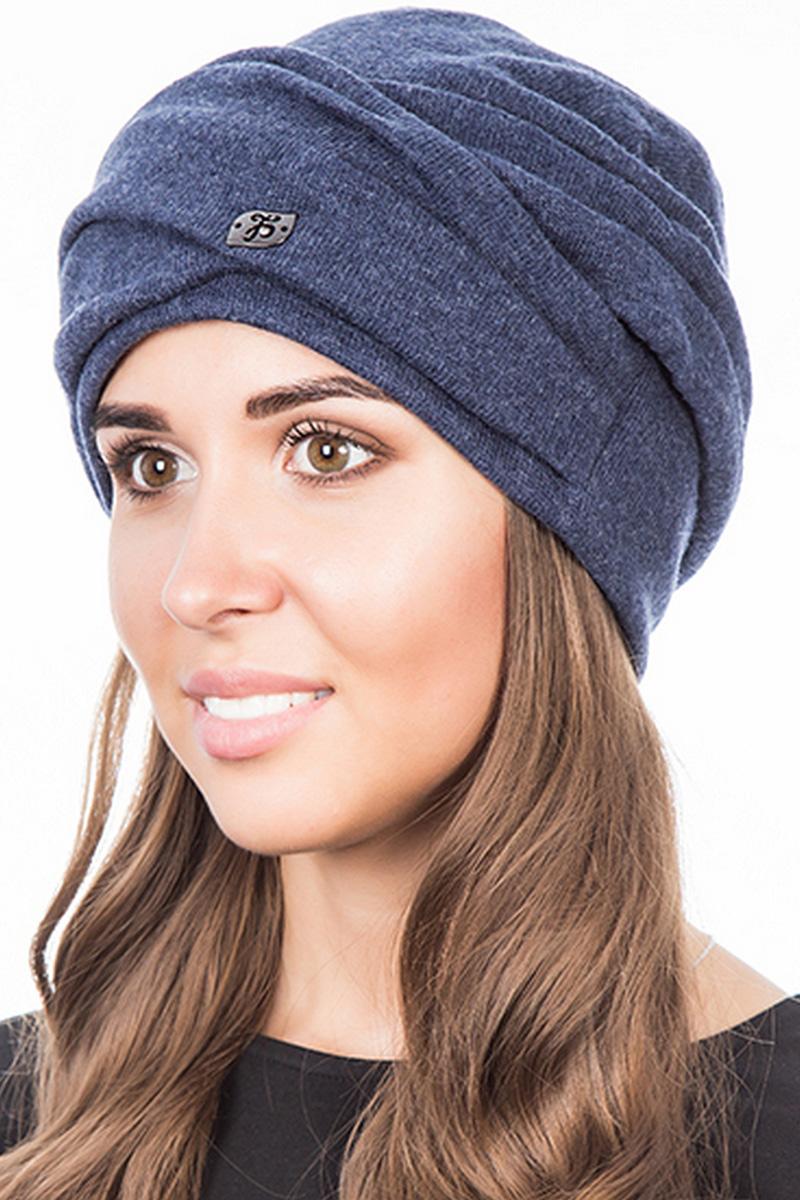 Шапка женская Level Pro Зарина, цвет: синий меланж. 407752. Размер 56/58407752Стильная женская шапка Level Pro дополнит ваш наряд и не позволит вам замерзнуть в холодное время года. Шапка на флисовой подкладке выполнена из пряжи сложного состава с содержанием шерсти и акрила, что позволяет ей великолепно сохранять тепло и обеспечивает высокую эластичность и удобство посадки. Такая шапка составит идеальный комплект с модной верхней одеждой, в ней вам будет уютно и тепло.
