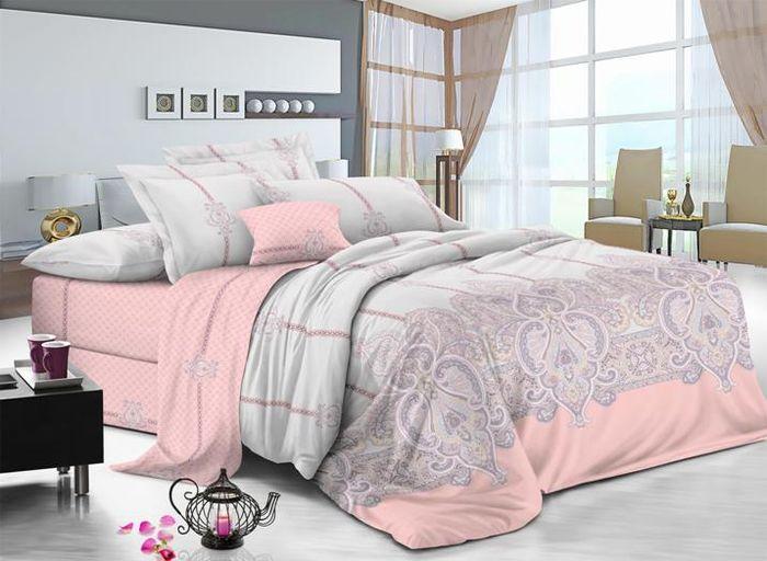 Комплект белья Soft Line, семейный, наволочки 50х70, цвет: мультиколор. 60296029Постельное белье SL из сатина с декоративной отделкой