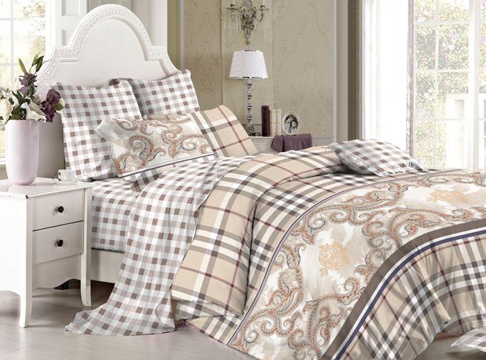 Комплект белья Soft Line, 1,5-спальный, наволочки 50х70, цвет: мультиколор. 60306030Постельное белье SL из сатина с декоративной отделкой