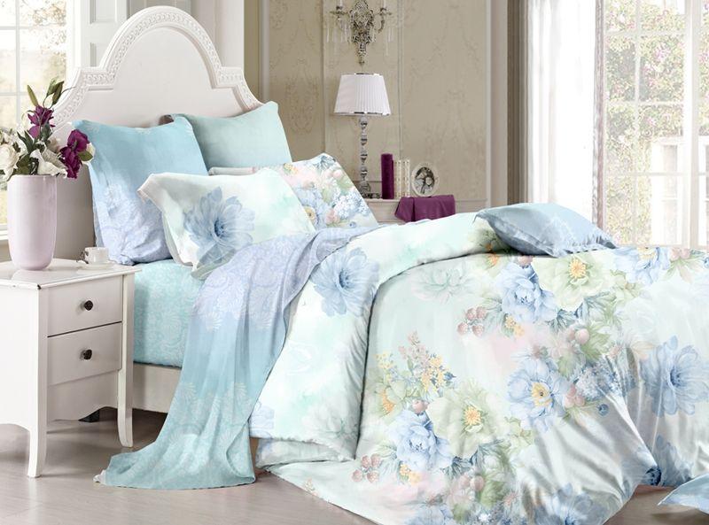 Комплект белья Soft Line, семейный, наволочки 50х70, цвет: мультиколор. 60376037Постельное белье SL из сатина с декоративной отделкой