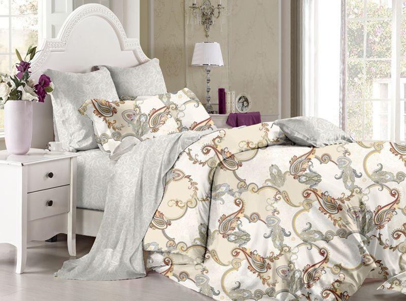 Комплект белья Soft Line, семейный, наволочки 50х70, цвет: мультиколор. 60416041Постельное белье SL из сатина с декоративной отделкой