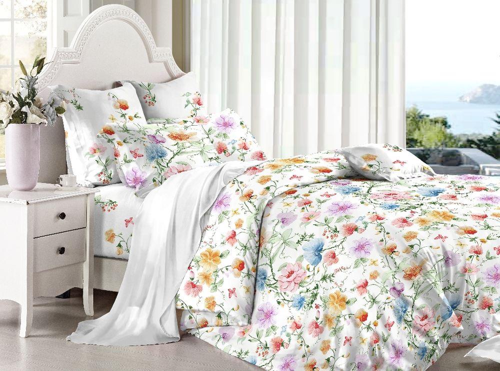 Комплект белья Soft Line, 1,5-спальный, наволочки 50х70, цвет: мультиколор. 60426042Постельное белье SL из сатина с декоративной отделкой