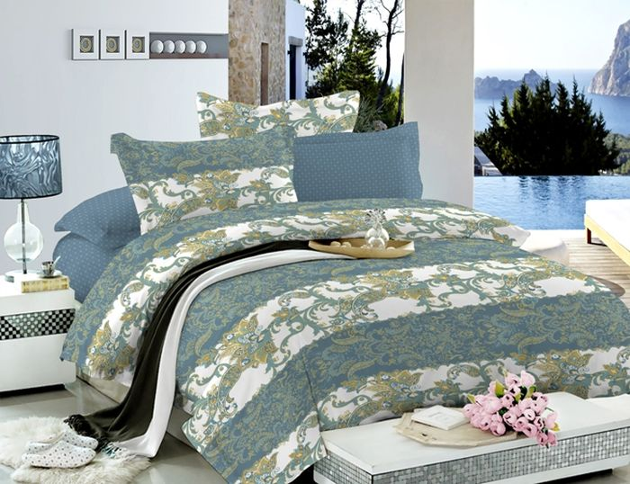 Комплект белья Soft Line, 2-спальный, наволочки 50х70, цвет: мультиколор. 60476047Постельное белье SL из сатина с декоративной отделкой