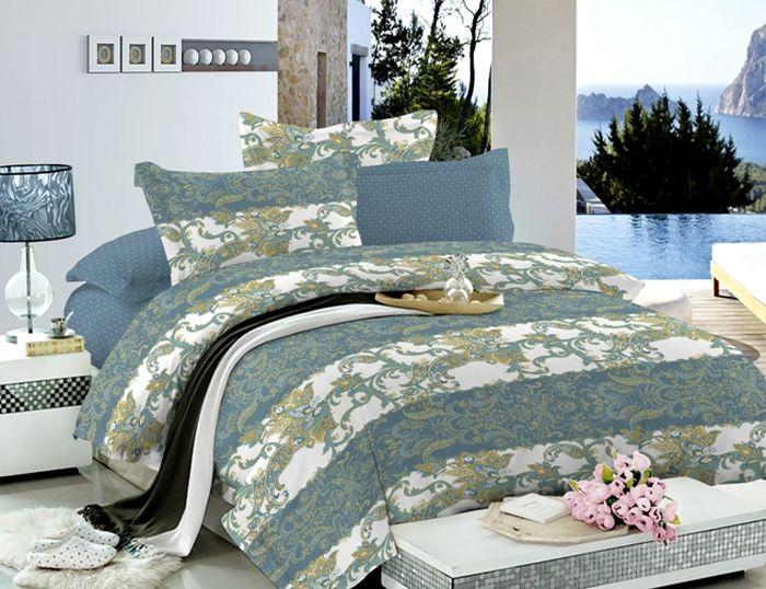 Комплект белья Soft Line, семейный, наволочки 50х70, цвет: мультиколор. 60496049Постельное белье SL из сатина с декоративной отделкой
