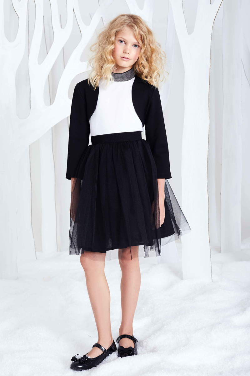Юбка для девочки Смена, цвет: черный. 17с613. Размер 152/158 брюки для девочки btc цвет черный 12 017900 размер 40 158