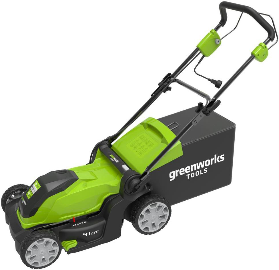 Газонокосилка электрическая Greenworks 1200W, 40 см 2505207 -  Газонокосилки