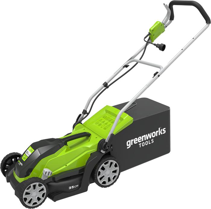 Газонокосилка электрическая Greenworks 1000W, 35 см 2505107