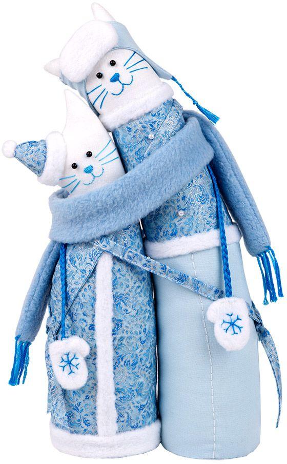 Набор для создания игрушки Miadolla  Коты-обнимашки зимние . C-0204 - Игрушки своими руками