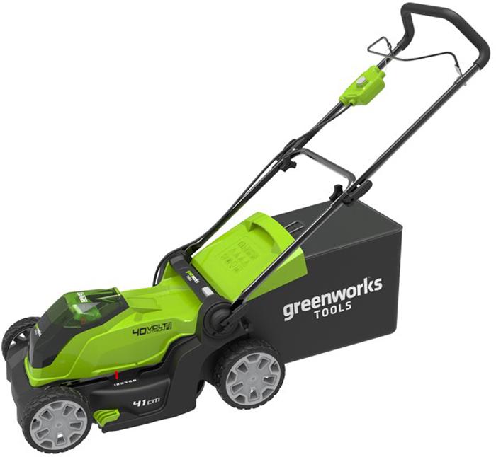 Газонокосилка аккумуляторная Greenworks 40V, 40 см 2504707