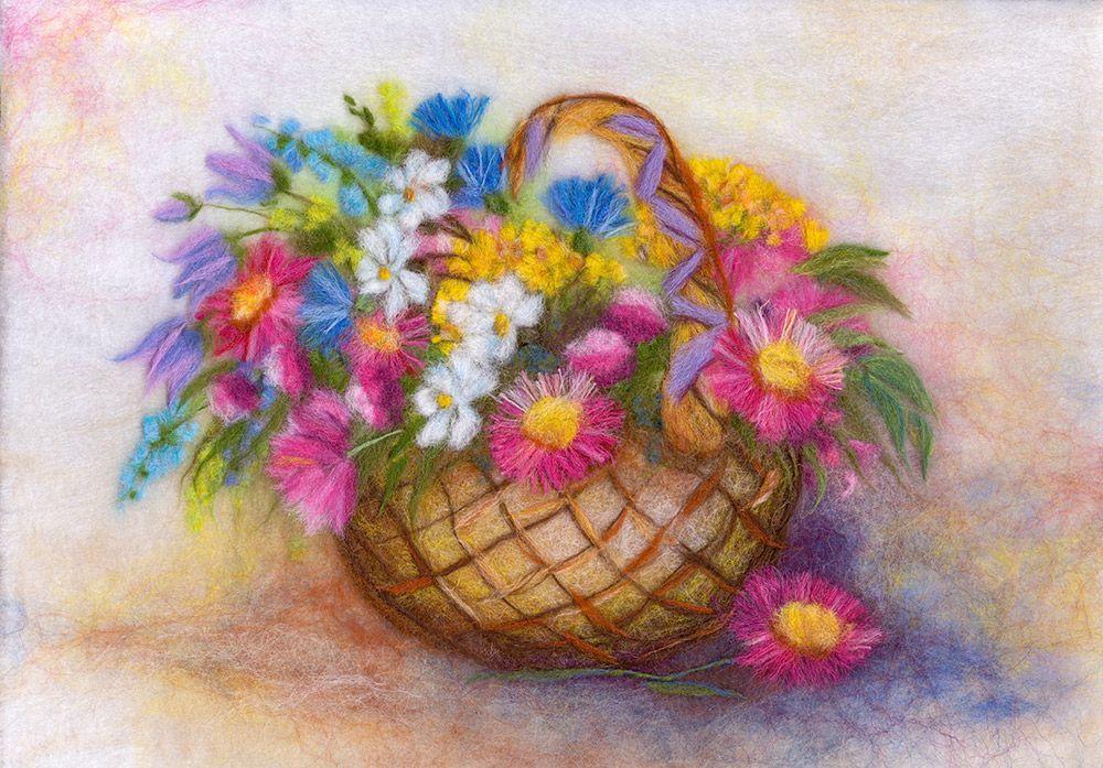 "Набор для валяния Woolla ""Корзина с цветами"". WA-0148"