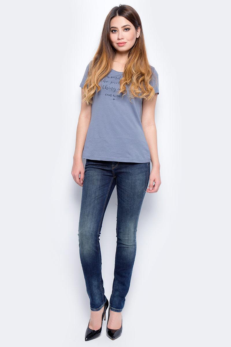 Джинсы женские Mustang Jasmin Slim, цвет: синий. 0586-5032-586_5000-874. Размер 32-30 (48-30)
