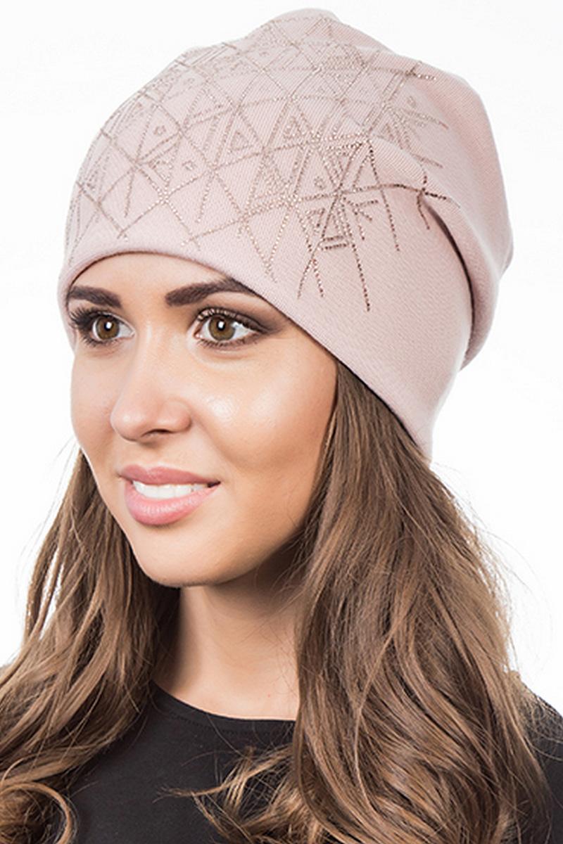 Шапка женская Level Pro Артель, цвет: чайная роза. 404532. Размер 56/58404532Стильная женская шапка Level Pro дополнит ваш наряд и не позволит вам замерзнуть в холодное время года. Шапка выполнена из шерсти и полиэстера, что позволяет ей великолепно сохранять тепло и обеспечивает высокую эластичность и удобство посадки. Изделие оформлено стразами. Такая шапка составит идеальный комплект с модной верхней одеждой, в ней вам будет уютно и тепло.