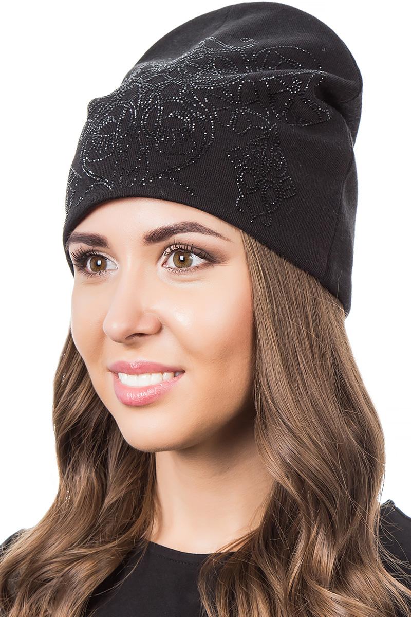 Шапка женская Level Pro Фэнтези, цвет: черный. 404312. Размер 56/58404312Стильная женская шапка Level Pro дополнит ваш наряд и не позволит вам замерзнуть в холодное время года. Шапка выполнена из шерсти и полиэстера, что позволяет ей великолепно сохранять тепло и обеспечивает высокую эластичность и удобство посадки. Изделие оформлено стразами. Такая шапка составит идеальный комплект с модной верхней одеждой, в ней вам будет уютно и тепло.