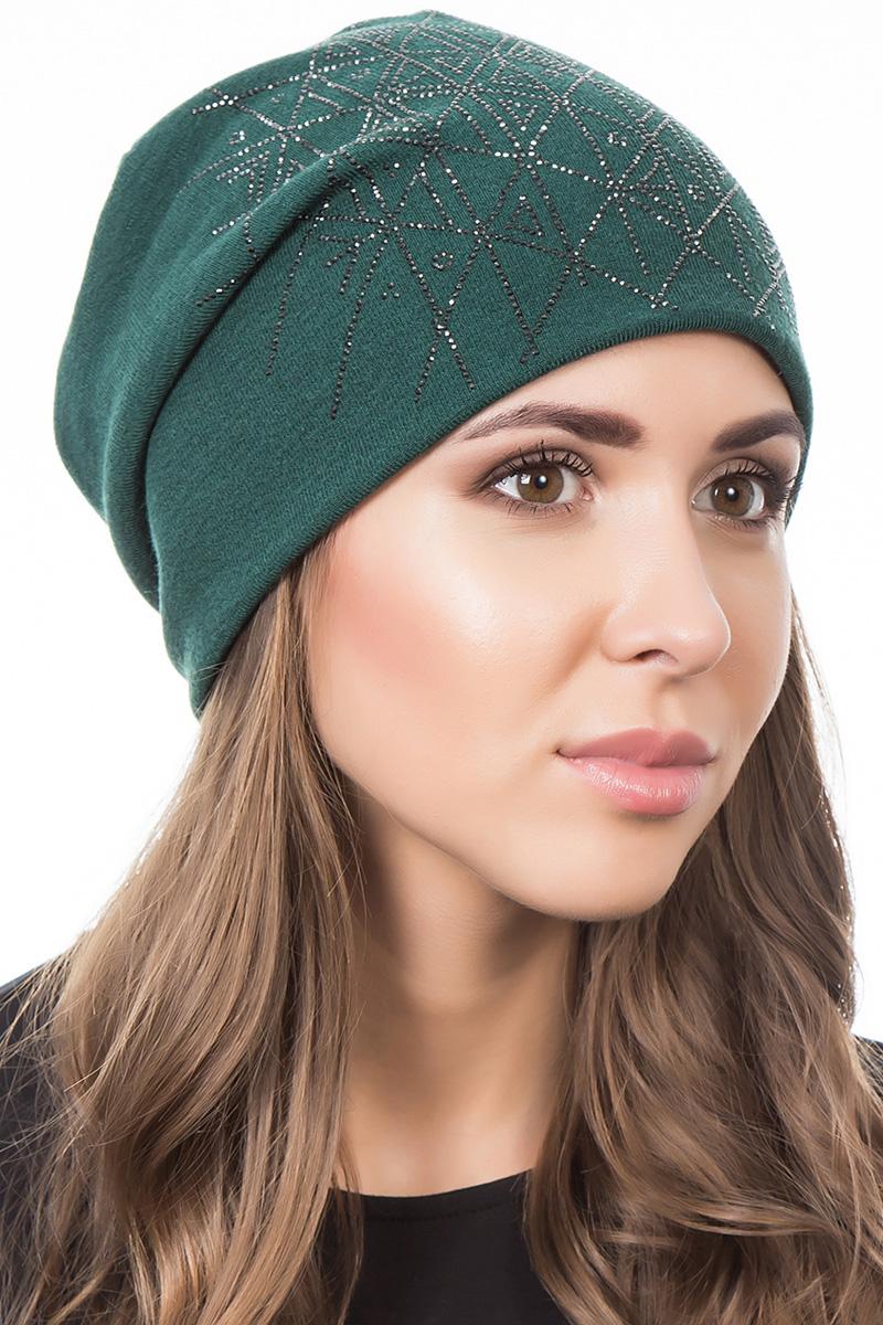 Шапка женская Level Pro Артель, цвет: зеленый. 404220. Размер 56/58404220Стильная женская шапка Level Pro дополнит ваш наряд и не позволит вам замерзнуть в холодное время года. Шапка выполнена из шерсти и полиэстера, что позволяет ей великолепно сохранять тепло и обеспечивает высокую эластичность и удобство посадки. Изделие оформлено стразами. Такая шапка составит идеальный комплект с модной верхней одеждой, в ней вам будет уютно и тепло.