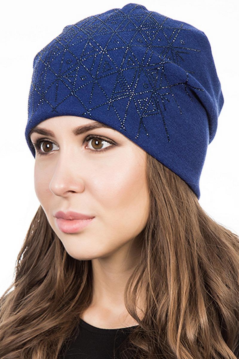 Шапка женская Level Pro Артель, цвет: васильковый. 404204. Размер 56/58404204Стильная женская шапка Level Pro дополнит ваш наряд и не позволит вам замерзнуть в холодное время года. Шапка выполнена из шерсти и полиэстера, что позволяет ей великолепно сохранять тепло и обеспечивает высокую эластичность и удобство посадки. Изделие оформлено стразами. Такая шапка составит идеальный комплект с модной верхней одеждой, в ней вам будет уютно и тепло.