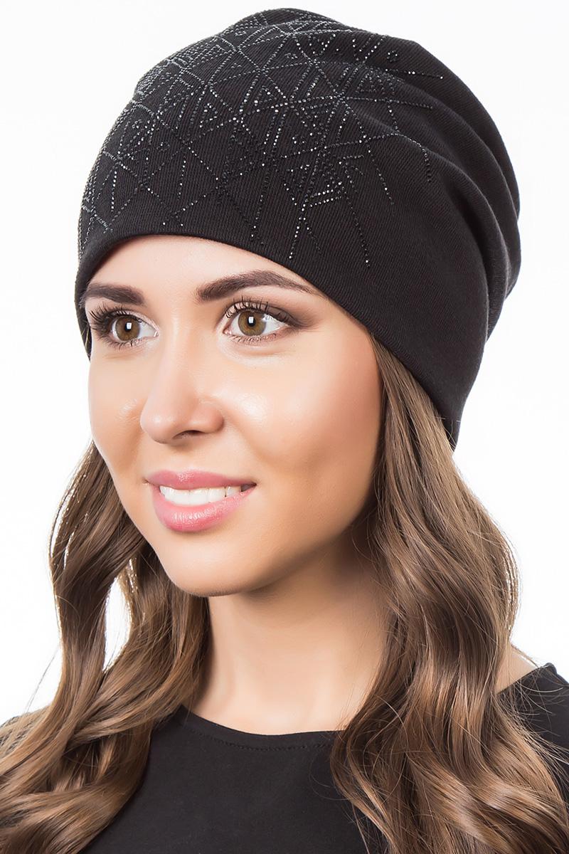 Шапка женская Level Pro Артель, цвет: черный. 404202. Размер 56/58404202Яркий и стильный головной убор не только станет прекрасным дополнением Вашего образа, но и согреет в холода. Оттенок и детали изделия могут отличаться от фотографии.