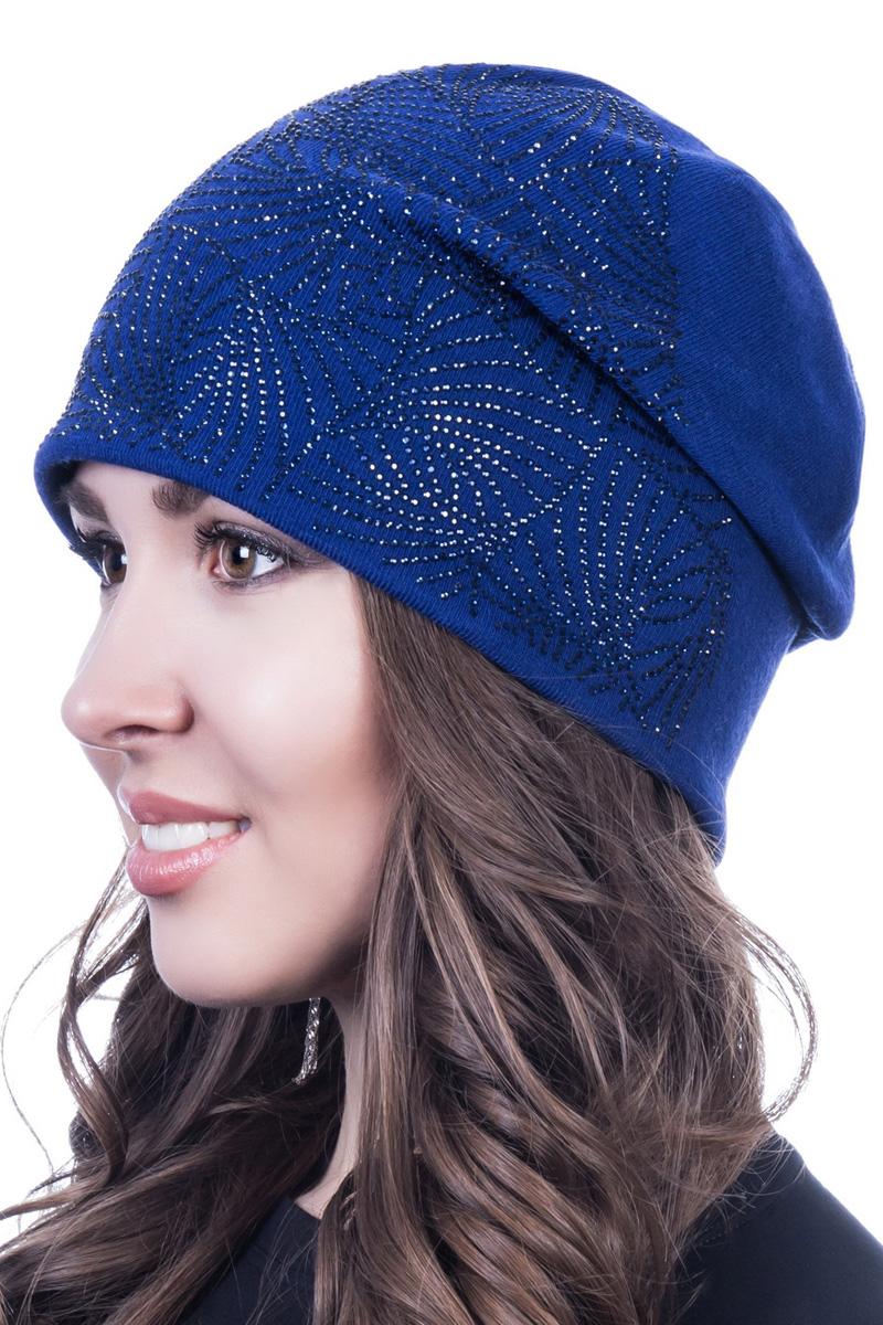 Шапка женская Level Pro Версаль, цвет: васильковый. 402192. Размер 56/58402192Стильная женская шапка Level Pro дополнит ваш наряд и не позволит вам замерзнуть в холодное время года. Шапка выполнена из шерсти и полиэстера, что позволяет ей великолепно сохранять тепло и обеспечивает высокую эластичность и удобство посадки. Изделие оформлено стразами. Такая шапка составит идеальный комплект с модной верхней одеждой, в ней вам будет уютно и тепло.