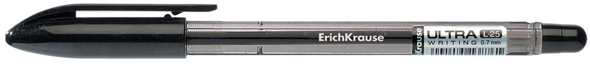Erich Krause Ручка шариковая Ultra L-25 черная 3573535735Шариковая ручка в тонированном корпусе. Цвет корпуса и колпачка соответствует цвету чернил. Пишущий узел 0. 7 мм. Толщина линии 0. 25 мм. Длина письма 1800 м