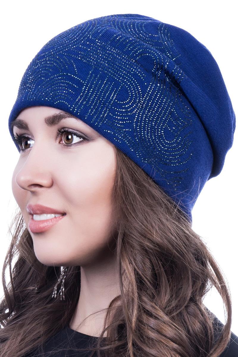 Шапка женская Level Pro Новая волна, цвет: васильковый. 402176. Размер 56/58402176Стильная женская шапка Level Pro дополнит ваш наряд и не позволит вам замерзнуть в холодное время года. Шапка на флисовой подкладке выполнена из шерсти и акрила, что позволяет ей великолепно сохранять тепло и обеспечивает высокую эластичность и удобство посадки. Изделие оформлено стразами. Такая шапка составит идеальный комплект с модной верхней одеждой, в ней вам будет уютно и тепло.