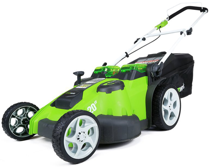 Газонокосилка GreenWorks 40V 49см (без аккумуляторной батареи и зарядного устройства) 2500207 greenworks 40v g40b4 29727