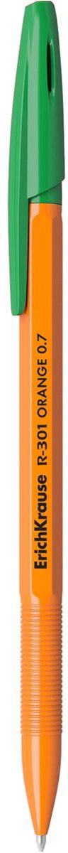 Erich Krause Ручка шариковая R-301 Orange 0.7 Stick зеленая 43197