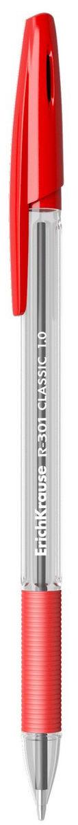 Erich Krause Ручка шариковая R-301 Classic 1.0 Stick&Grip красная
