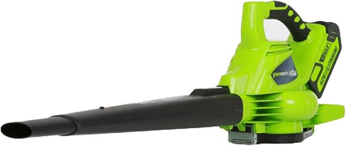 Воздуходув аккумуляторный Greenworks 40V 2422724227• Бесщеточный мотор DigiPro • Регулятор скорости воздушного потока • Минимальный уровень вибрации • Переключение воздуходувка/пылесос • Сверхмощная аккумуляторная система 40В G-MAX40• Бесщеточный мотор DigiPro• Макс. скорость воздушного потока 297 км/ч• Регулятор скорости воздушного потока • Минимальный уровень вибрации• Переключение воздуходувка/пылесос• Работает с аккумуляторами Greenworks G-MAX40 (арт. 29717, 29727) и зарядным устройством G40C (арт. 29417). • Гарантия 2 года