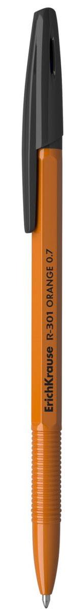 Erich Krause Ручка шариковая R-301 Orange 0.7 Stick черная 3903239032Шариковая ручка в оранжевом корпусе. Цвет чернил-черный. Цвет вентилируемого колпачка соответствует цвету чернил. Пишущий узел 0. 7 мм.Толщина линии 0. 35 мм. Длина письма 1000 м.
